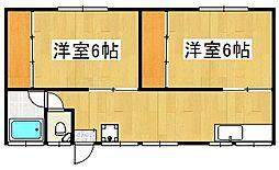 広瀬ハイツ[201号室]の間取り