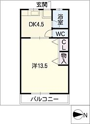 第二みどり荘[2階]の間取り
