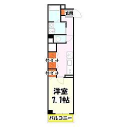 エスワンアパートメント[402号室]の間取り