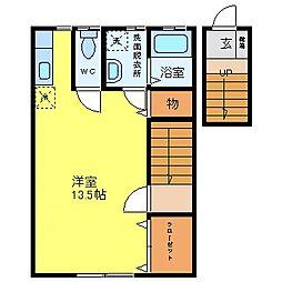 メイプル熊野[2階]の間取り