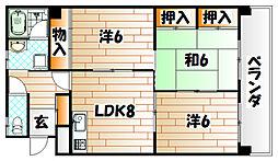 ブライトハーツ片野新町[7階]の間取り