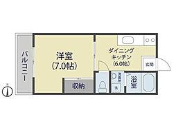 田川ハイツ[1階]の間取り