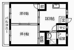 はりまマンション[206号室]の間取り