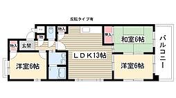 サンメゾン松井[305号室]の間取り