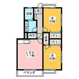 パルメゾン苦竹駅前[1階]の間取り