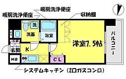 T's SQUARE 大阪城[6階]の間取り
