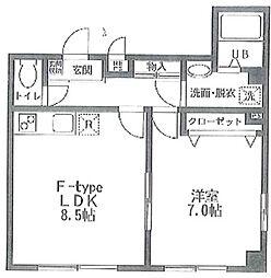 ステーションVILLA TAKA bt[104kk号室]の間取り