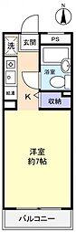 TK八千代[1階]の間取り