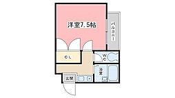 SAKIZO メゾン竹鼻[204号室]の間取り