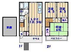 [一戸建] 千葉県市川市幸1丁目 の賃貸【/】の間取り