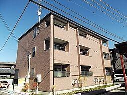 京都府京都市山科区御陵血洗町の賃貸アパートの外観