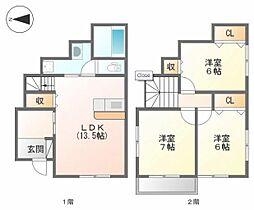 [一戸建] 愛媛県松山市宮西3丁目 の賃貸【/】の間取り