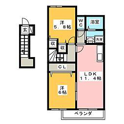 fフォルテ[2階]の間取り