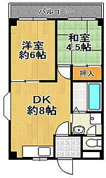 平山ハイツ[2階]の間取り