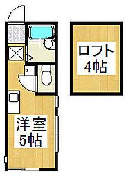 モンステラ戸塚[104号室]の間取り