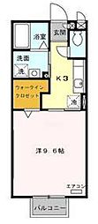 ラフォ−レ山崎[A203号室]の間取り
