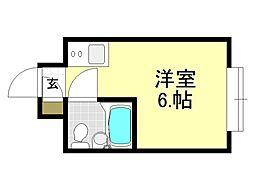 グランドハイツ平野西[3O2号室号室]の間取り