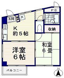 メゾンWAKO[3階]の間取り