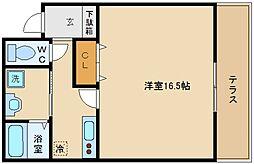 大阪府泉佐野市上町3丁目の賃貸マンションの間取り