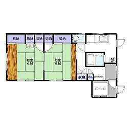Jyu Canon 101号室[1階]の間取り