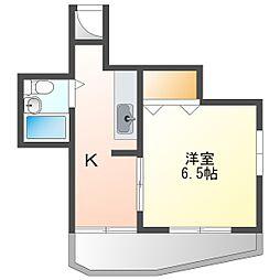 スタジオ108レザン中桜塚[502号室号室]の間取り