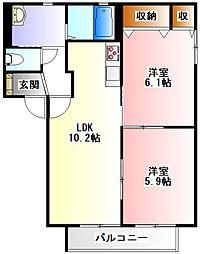 メイプル丸山台II[102号室]の間取り