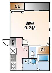 フジパレス甲子園口[2階]の間取り