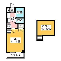 シューフルールIII[3階]の間取り
