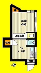 東京都板橋区赤塚新町2丁目の賃貸アパートの間取り