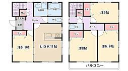 [一戸建] 東京都町田市忠生3丁目 の賃貸【東京都/町田市】の間取り
