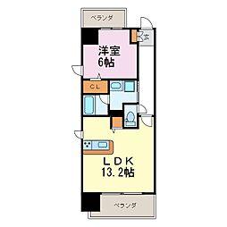 Lien de izumi (リヤンドイズミ)[10階]の間取り
