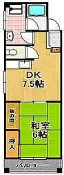 シャトーヘルシンキ[3階]の間取り