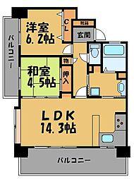 KDXレジデンス西公園[9階]の間取り