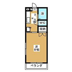 アークハイツ富田町[3階]の間取り