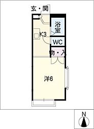 ダイヤモンドハウス[2階]の間取り