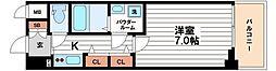 大阪府大阪市中央区鎗屋町2の賃貸マンションの間取り