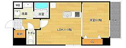 仮称城東区中央マンション[2階]の間取り