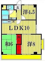 ニュー松戸コーポC棟[5階]の間取り