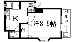 グリーンマンション玉屋2号館[3階]の間取り