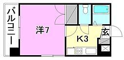 メゾン中村5[203 号室号室]の間取り