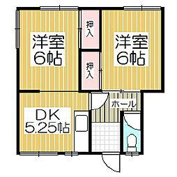 ピースアパート[1階]の間取り