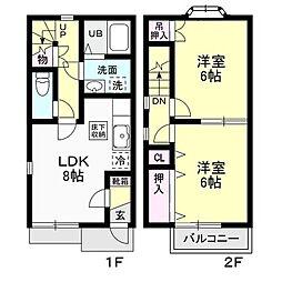 Selsia I−B[2階]の間取り