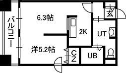 LEE豊平3条[10階]の間取り