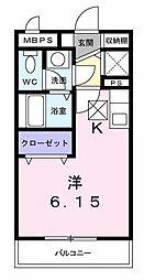 神奈川県横浜市緑区白山1丁目の賃貸アパートの間取り