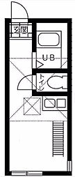 クレールプレイス白楽[2階]の間取り