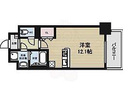 グランメゾン黒川 4階1Kの間取り