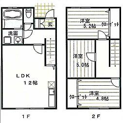 トレステーラShin3[1階]の間取り