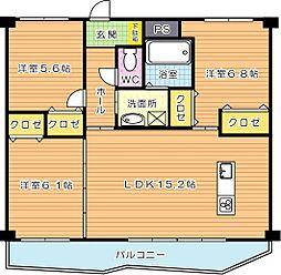 KSK中須コアプレイス[7階]の間取り
