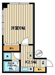 ロードしゅん[208号室]の間取り