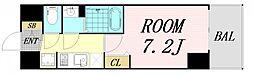 プレサンス OSAKA DOMECITY クロスティ 12階1Kの間取り